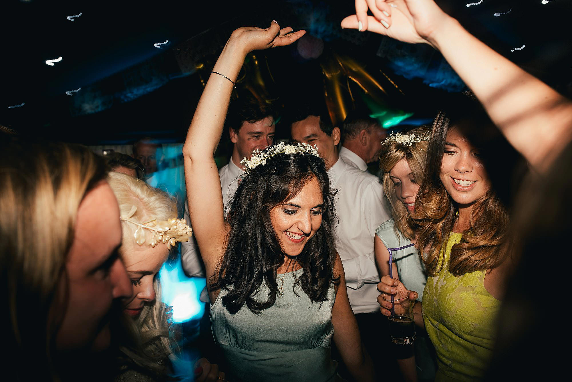 dancefloor party wedding bridesmaid