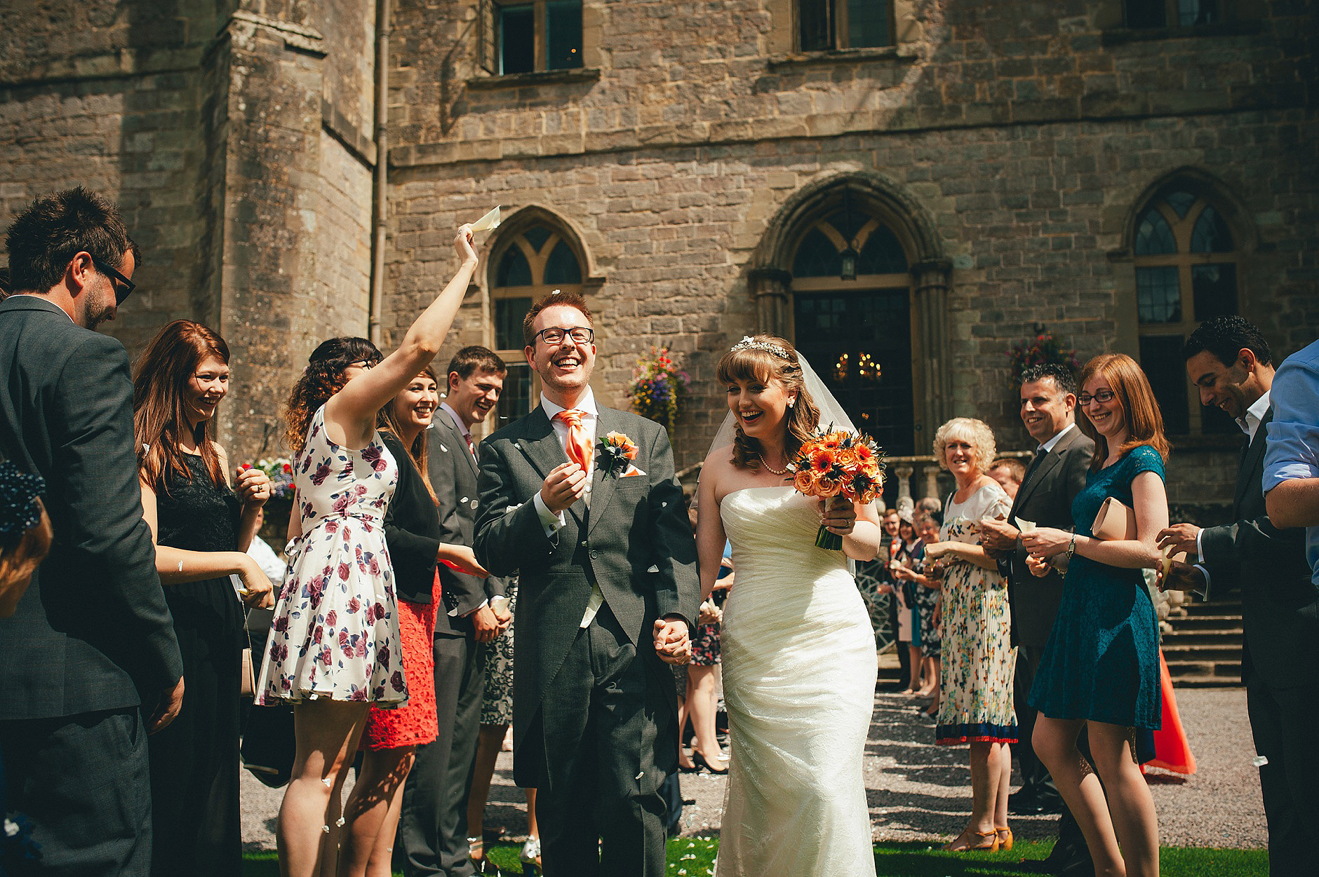 clearwell castle wedding photographer josie and dan