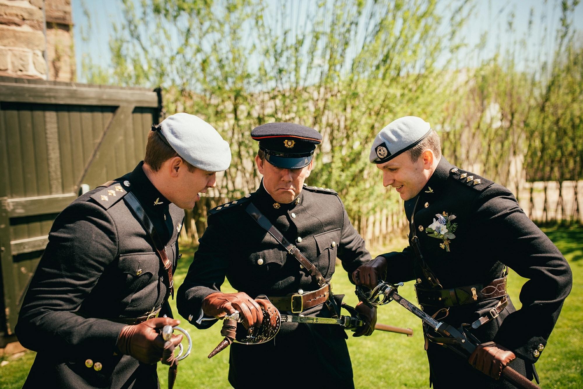 military wedding swords