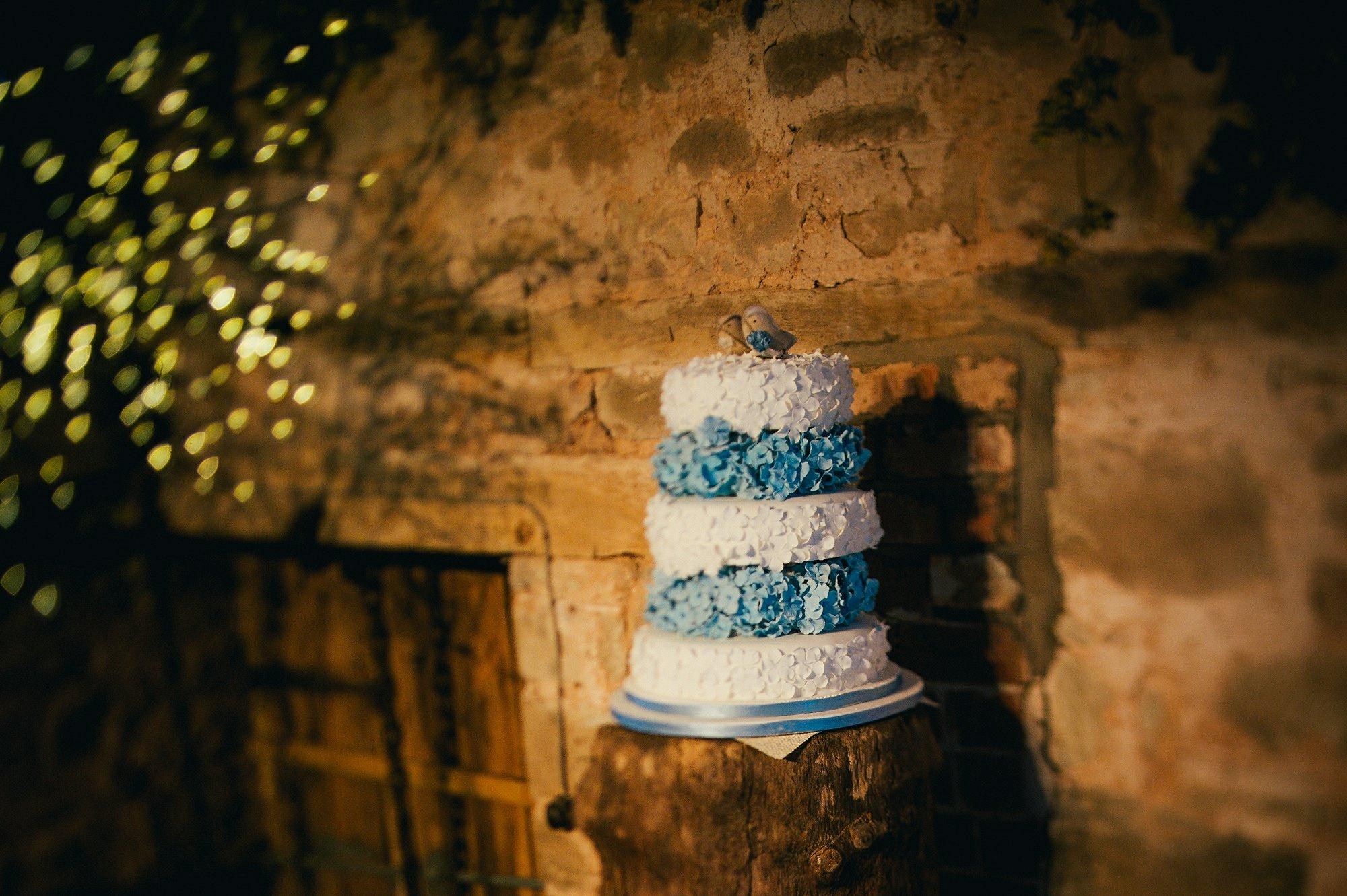 wedding cake barn rustic