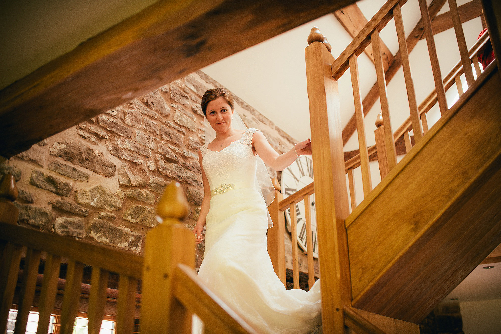 Bridal portrait at Flanesford Priory Herefordshire