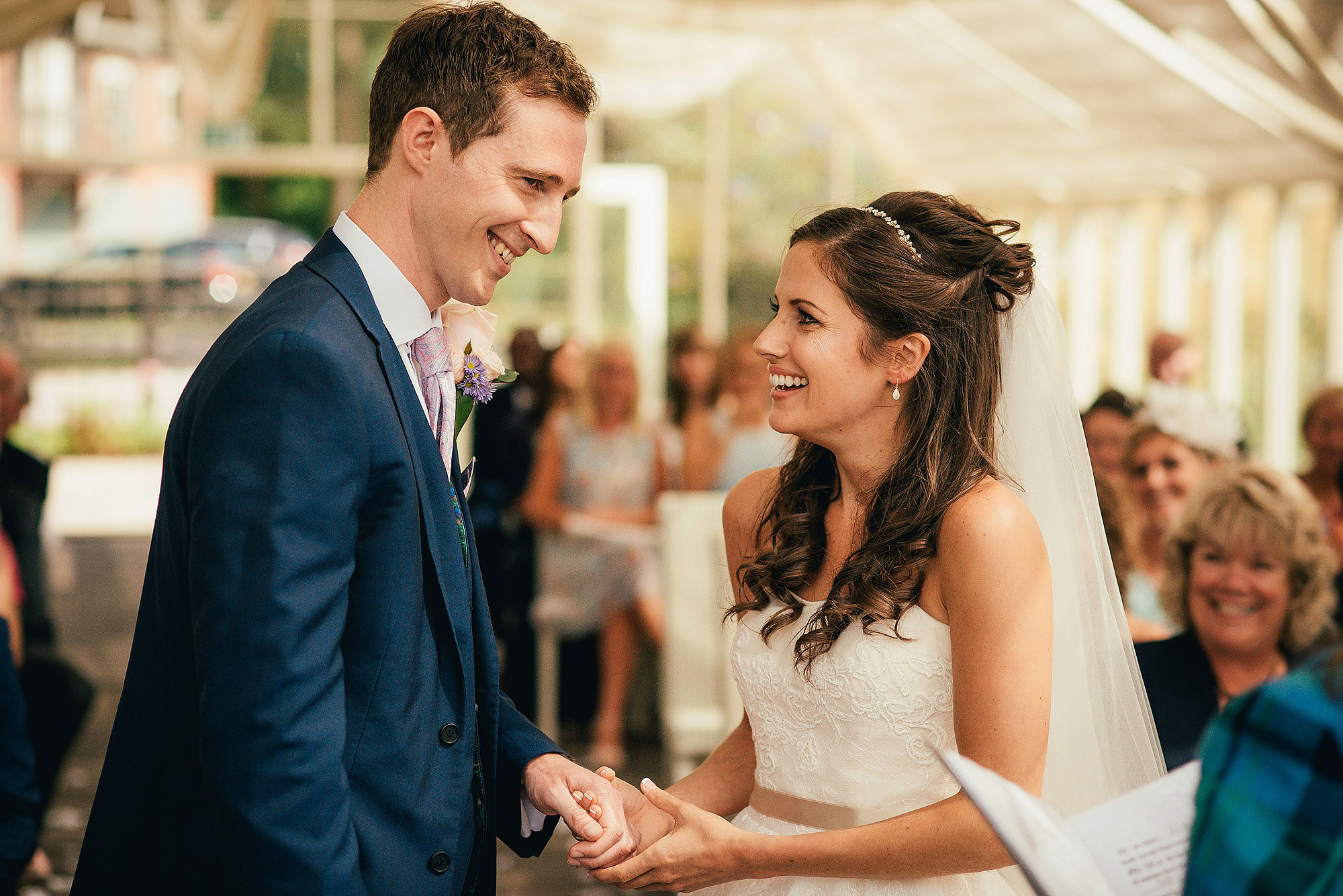 Bride and Groom Ceremony at Abbeywood Estate