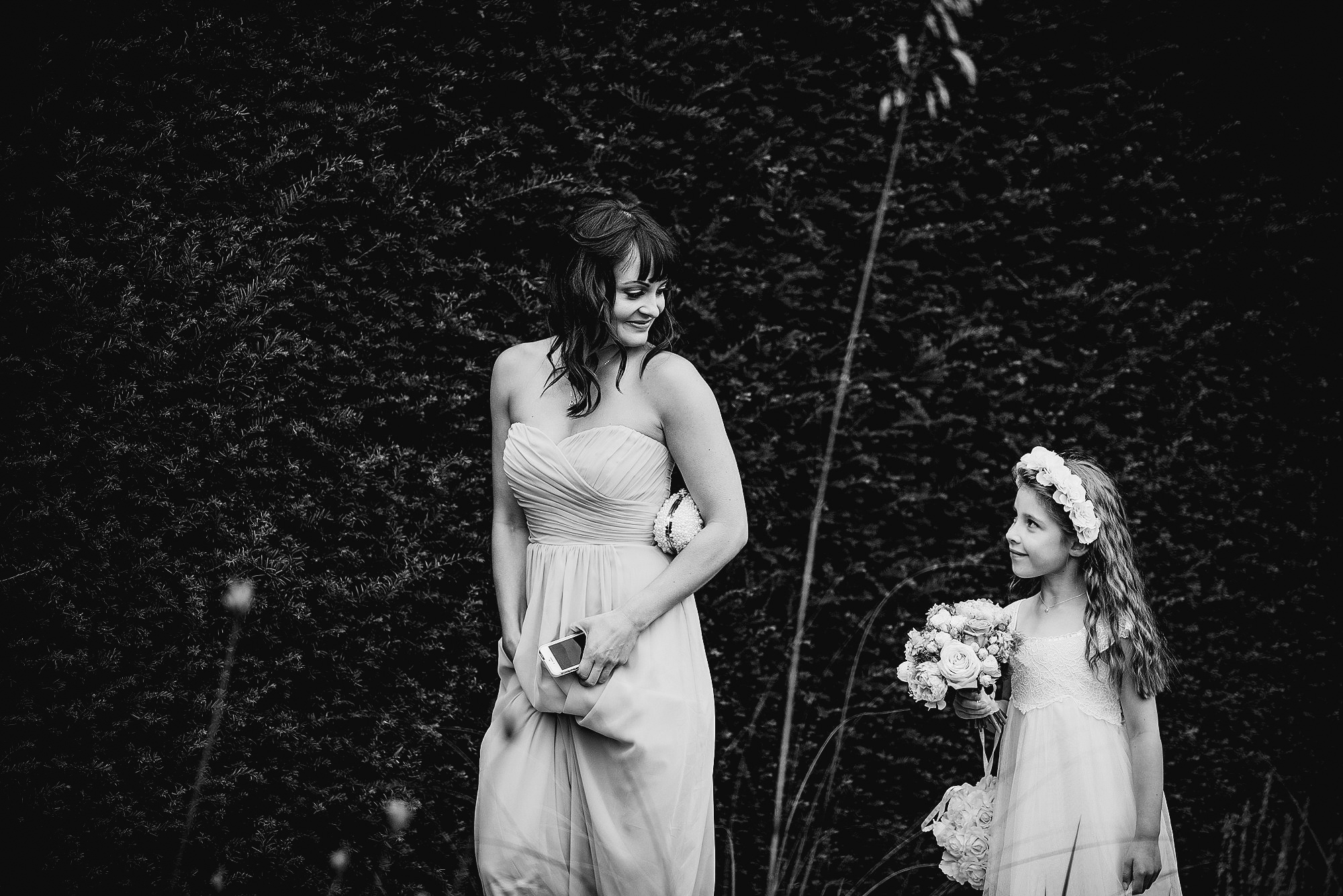 Bridesmaid and Flower Girl at Abbeywood Estate Wedding