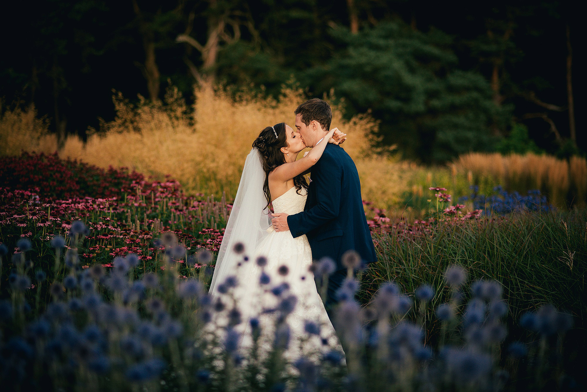 Couple Bride and Groom Portrait at Abbeywood Estate Delamere