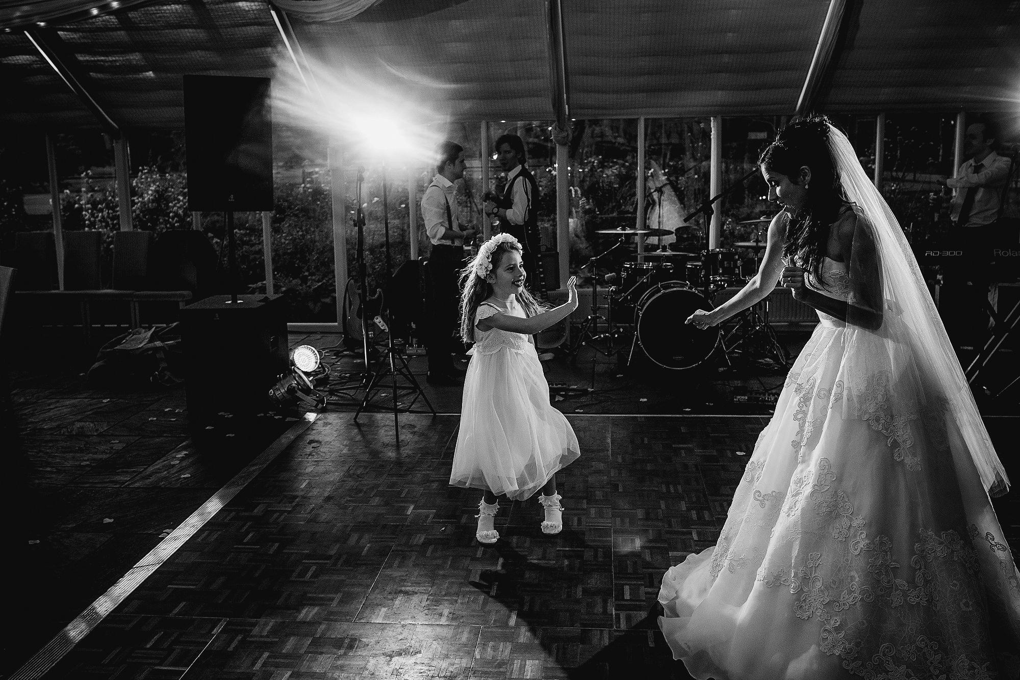 Bride on dance floor at Abbeywood Estate Delamere