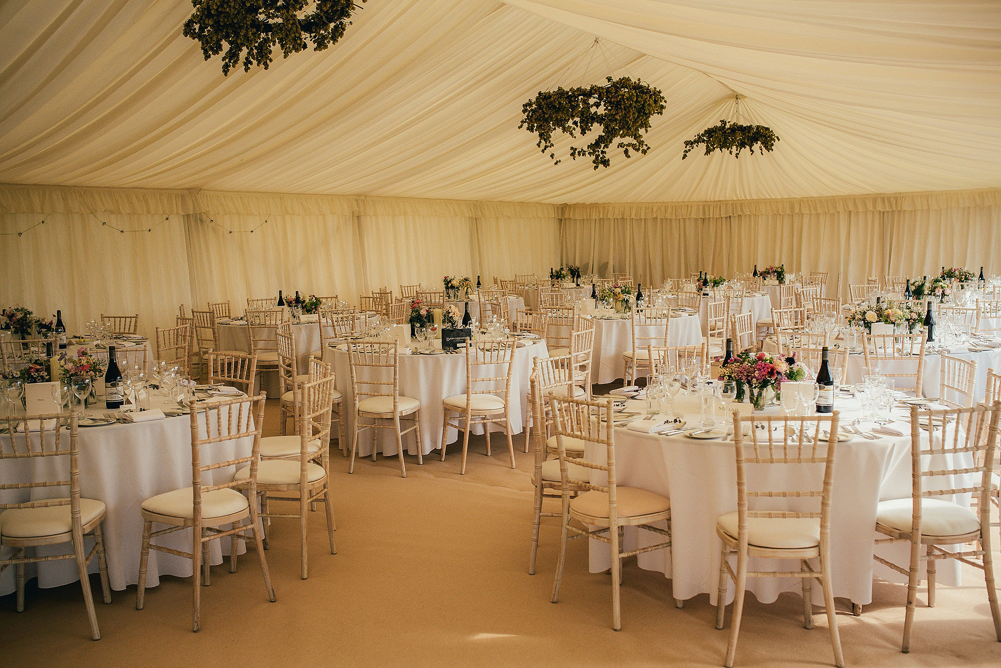 beautiful traditional marquee decor