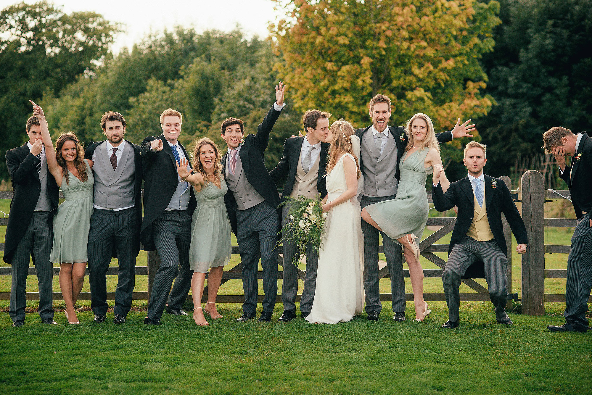 fun bridal party photograph
