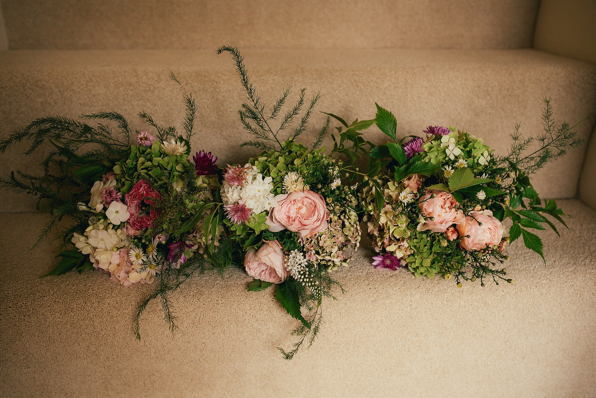 pretty pastel rustic wedding flowers