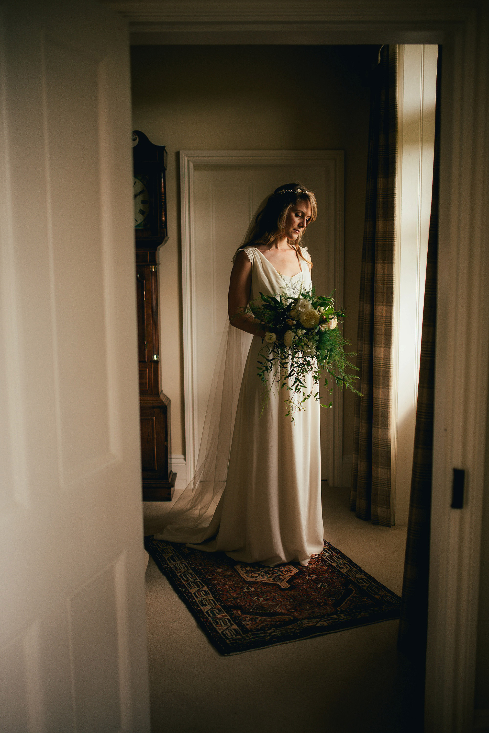 beautiful bride window light