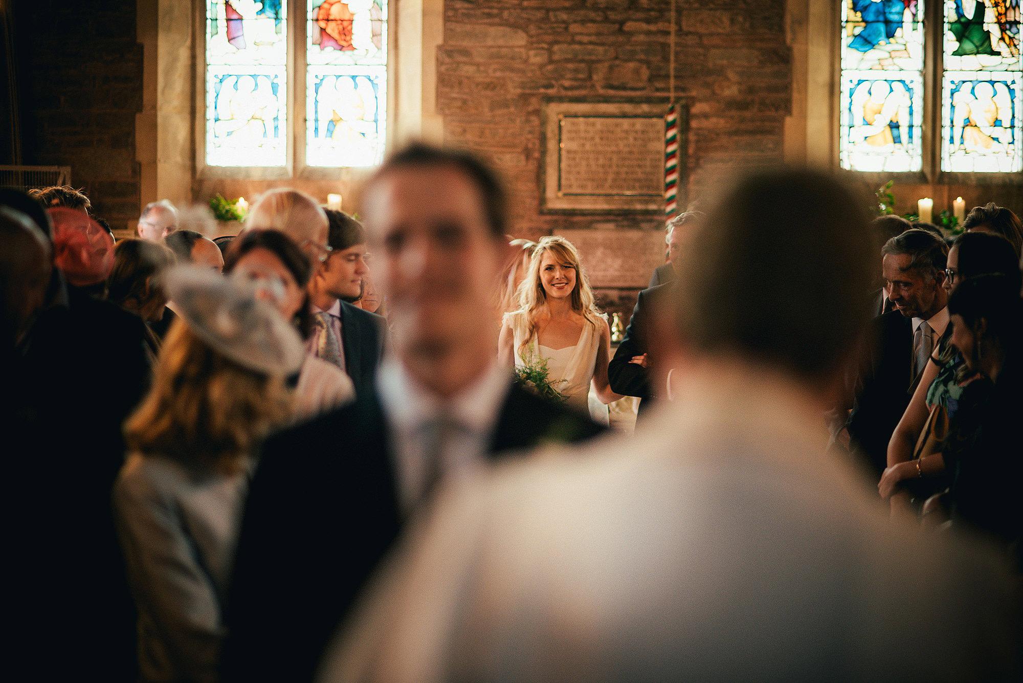 bride walking down asile